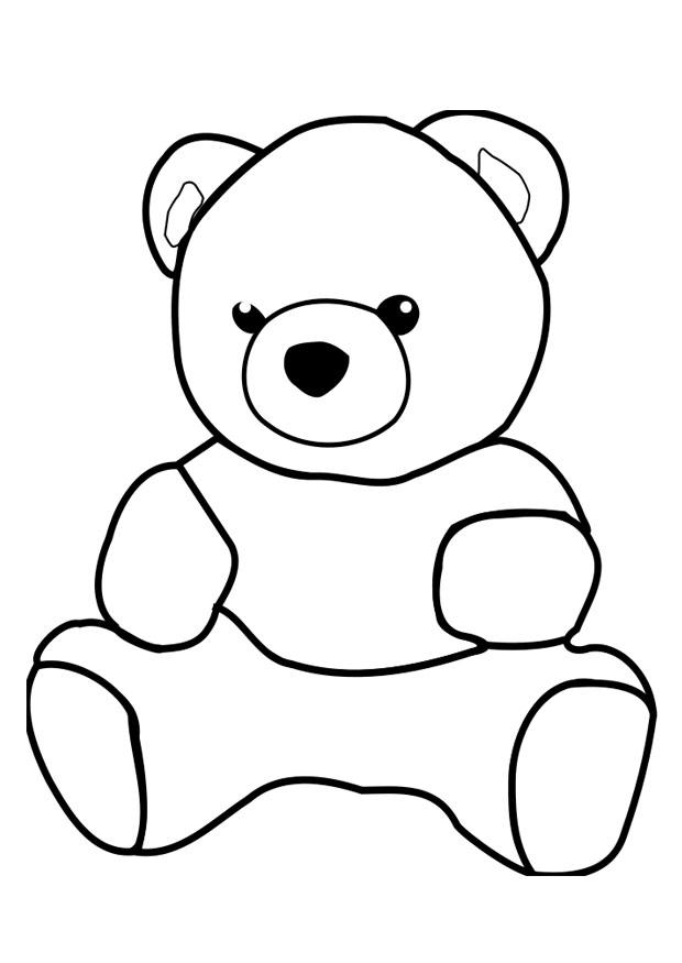 620x875 Coloring Page Bear