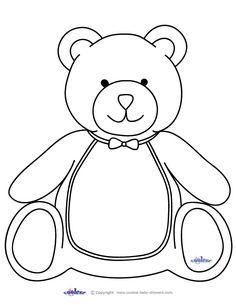 236x305 Outline Teddy Bear Coloring Page Cut Out Allentown Pa News