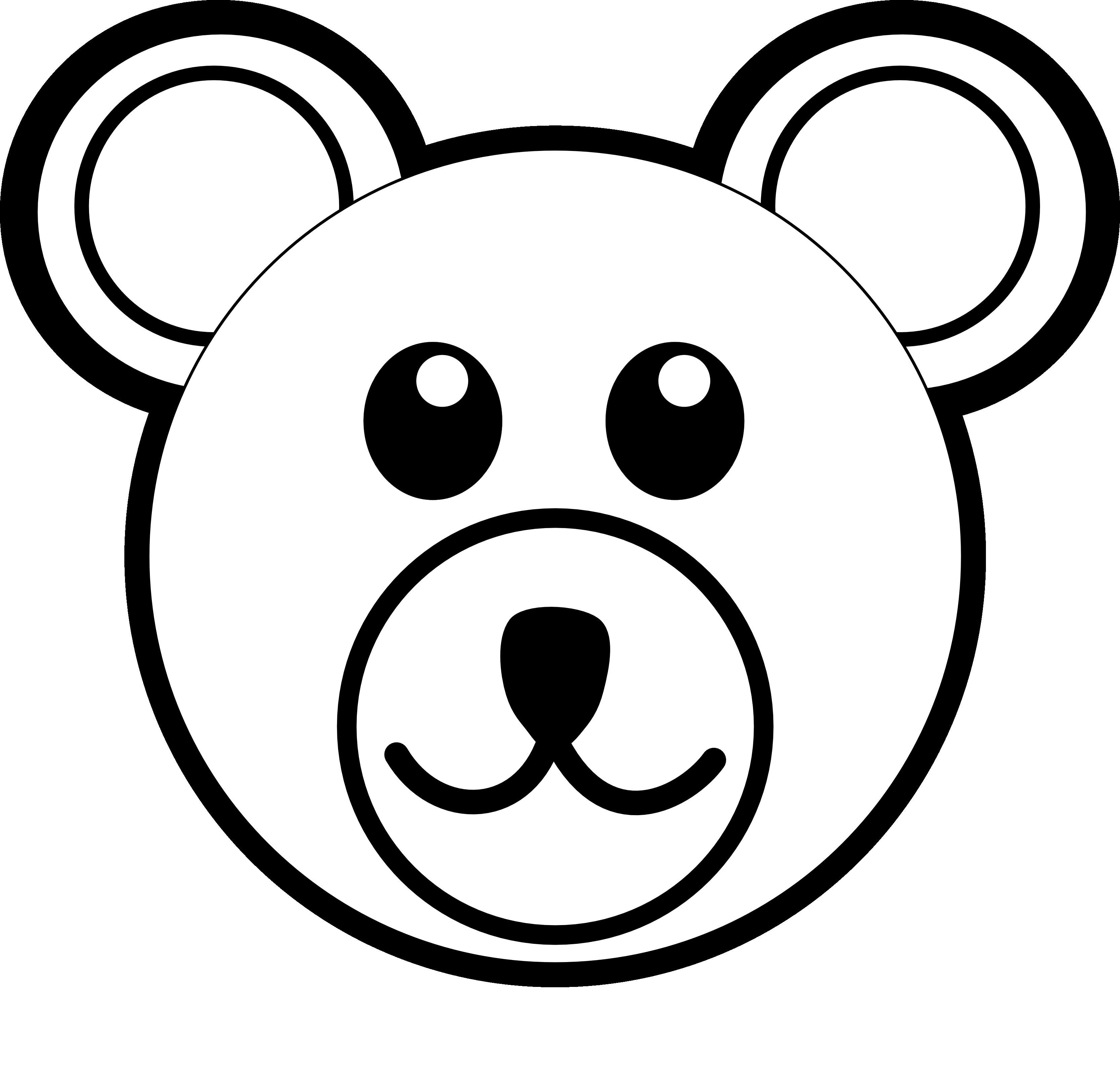 3333x3204 Polar Bear Clipart Black And White Clipart Panda