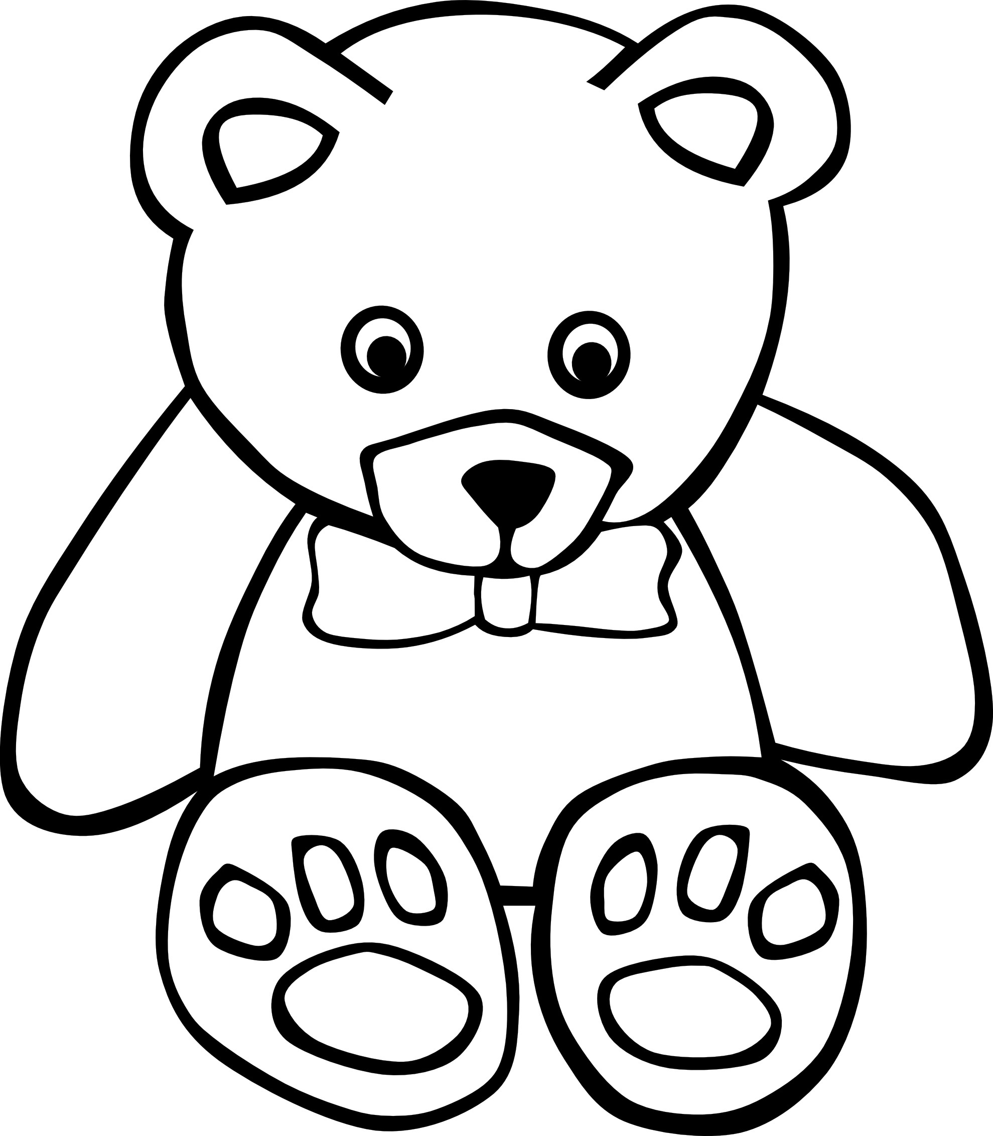 1979x2263 Popular Teddy Bear Coloring Pages Free Printable For Kids