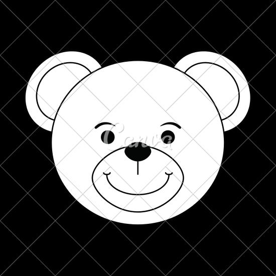 550x550 Teddy Bear Face