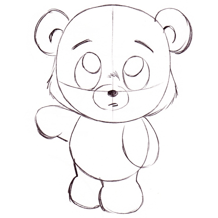 736x736 How To Draw Cartoon Bears Drawn Toon Cute Bear Pencil And In Color
