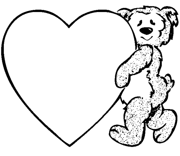 600x522 Heart Teddy Free Images