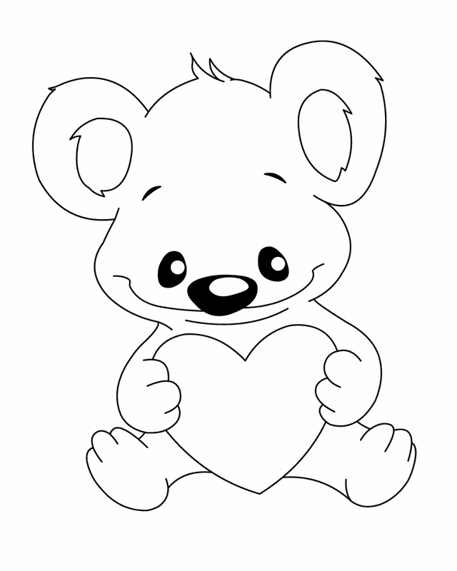 640x800 Teddy Bear Coloring Pages For Kids