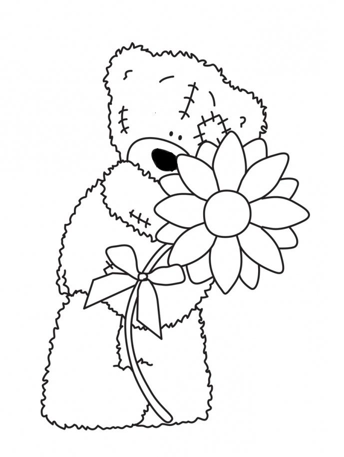 689x913 Teddy Bear Holding Flowers Teddy Bears Teddy Bear
