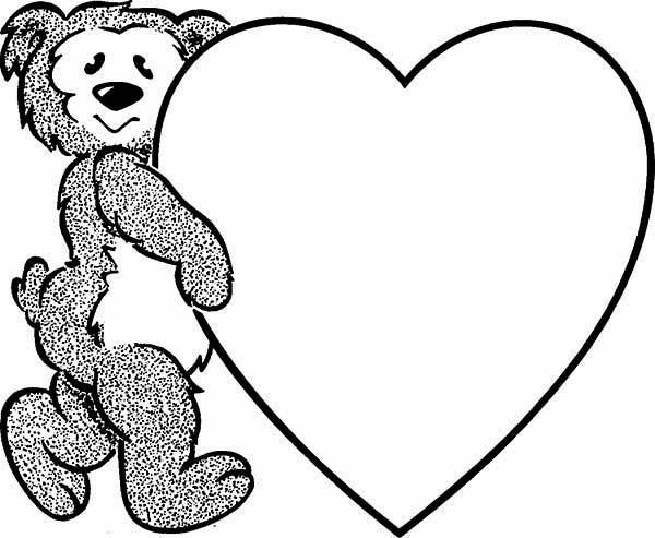600x493 We Love Teddy Bear Coloring Page Color Luna