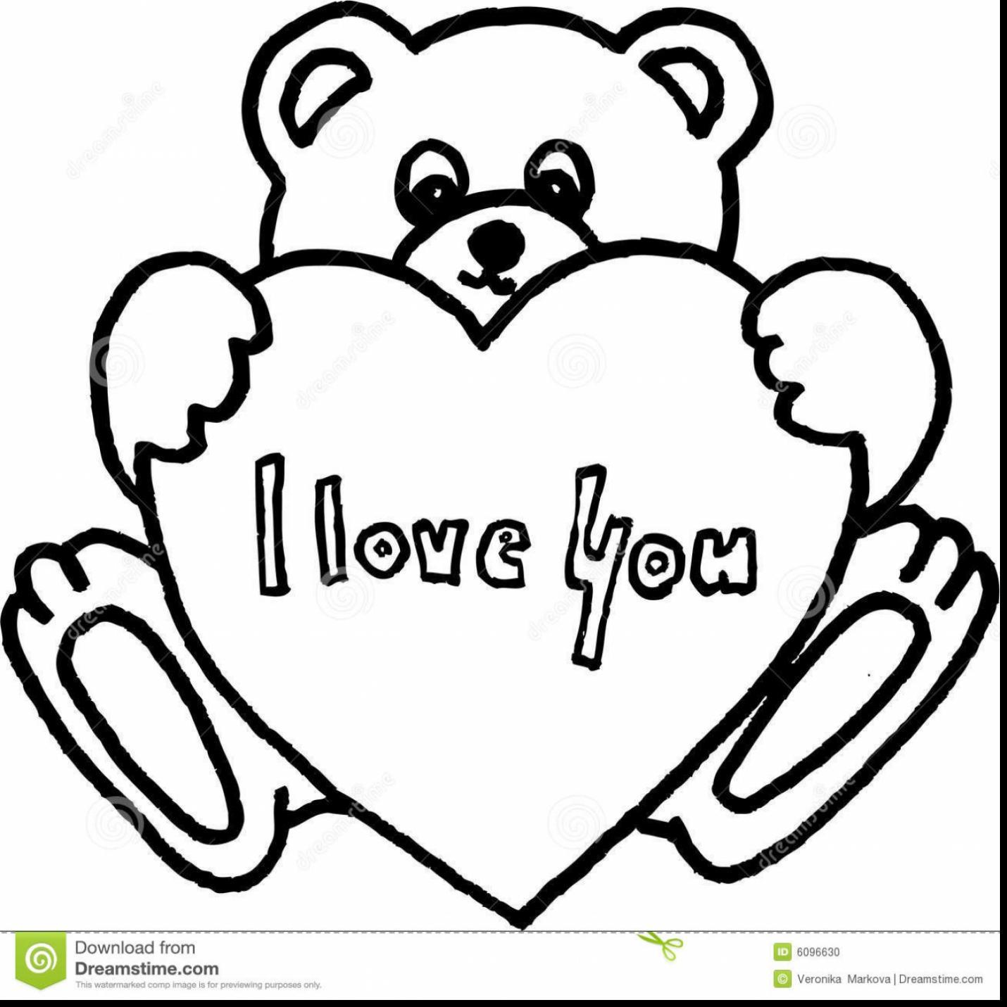 1430x1431 Incredible Love You Teddy Bear Drawings Withlove Coloring Of Pages