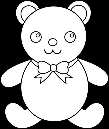 466x550 Line Drawing Teddy Bear