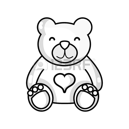 450x450 Line Nice Teddy Bear Toy To Game Royalty Free Cliparts, Vectors