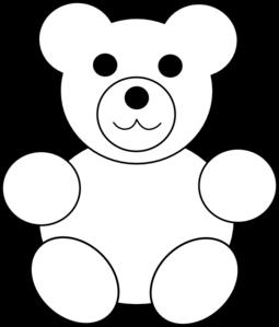 255x299 Printable Teddy Bear Clip Art