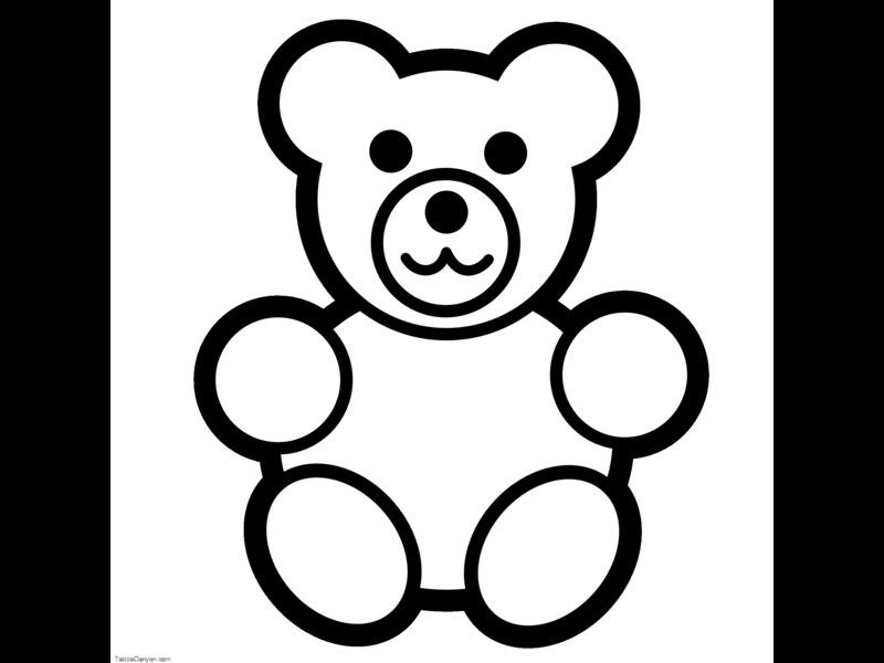 800x600 Teddy Bear Black And White