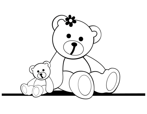 480x371 Teddy Bear Coloring Pages Free Coloring Pages