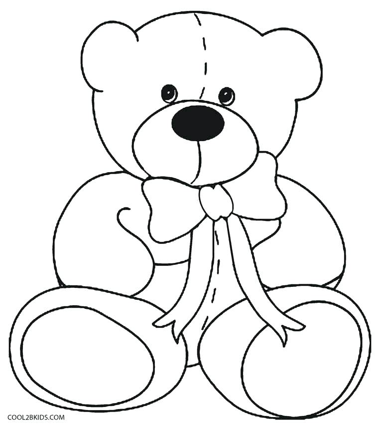 783x850 Coloring Pages Teddy Bears Bear Page Free