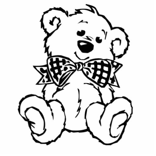 Teddy Bear Outline Drawing