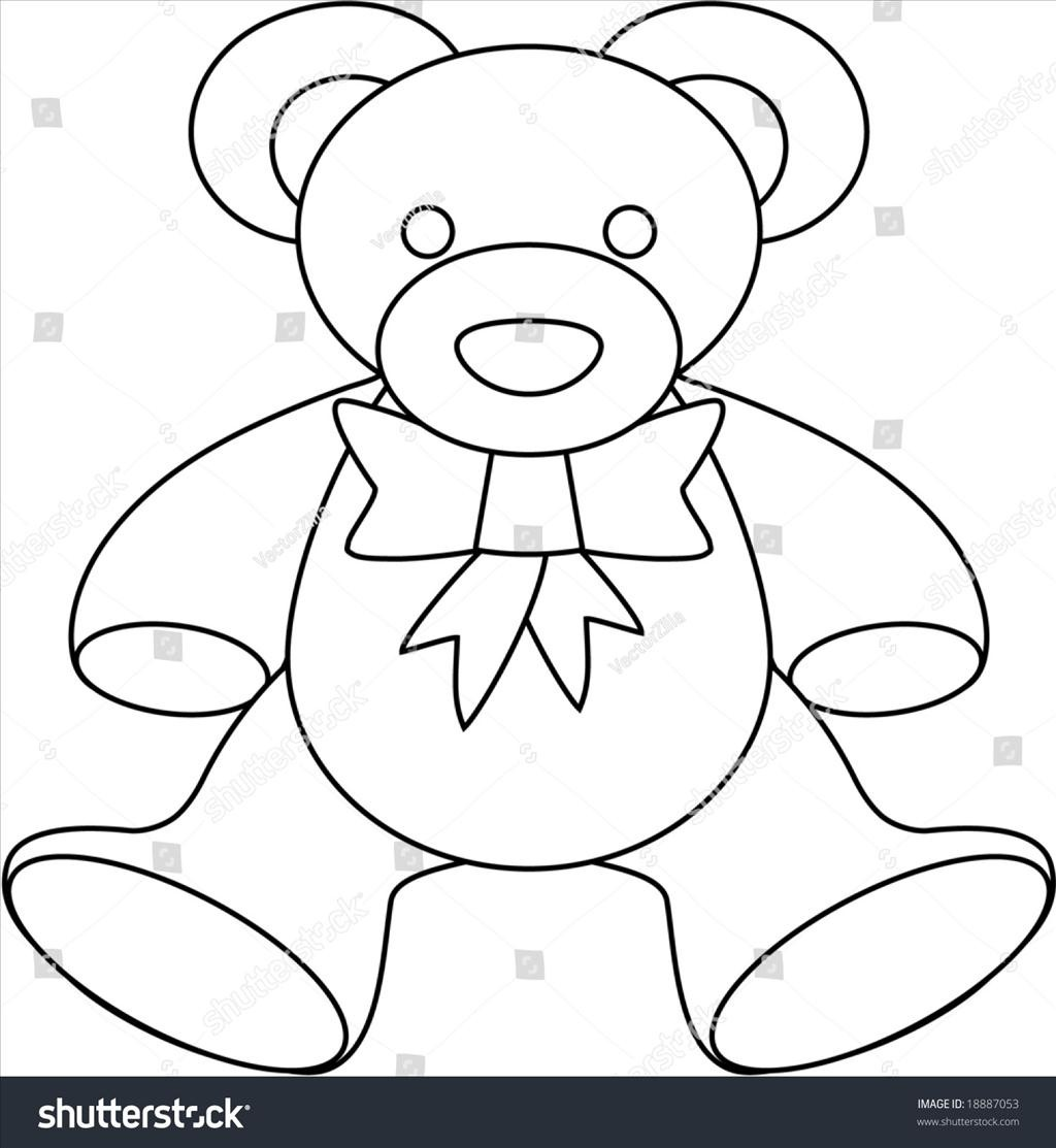 Teddy Bear Outline Drawing at GetDrawings.com | Free for ...
