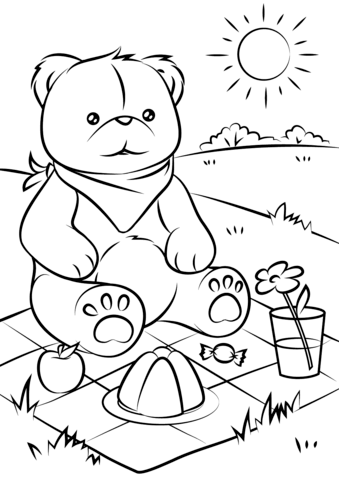 339x480 Teddy Bears39 Picnic Coloring Page Free Printable Pages