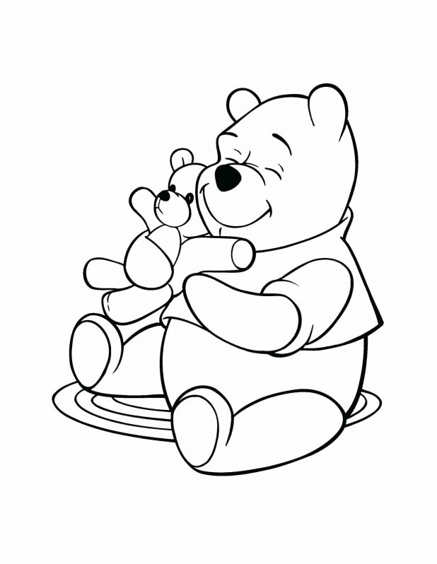618x798 Coloring Pages Fascinating Winnie Pooh Outline. Winnie