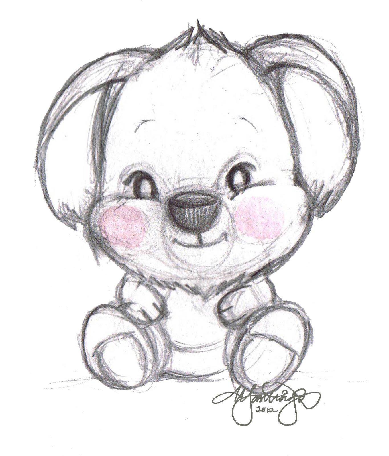 Teddy Bear Pencil Drawing