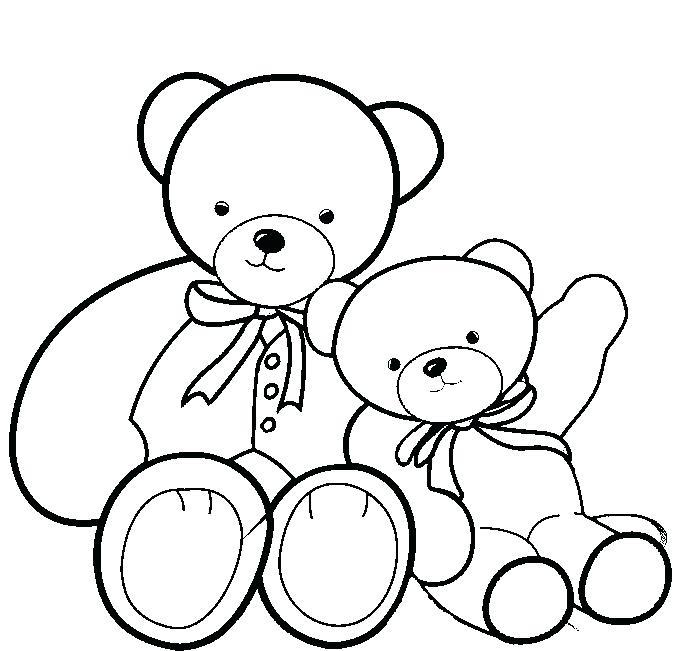 692x651 Teddy Bear Coloring Page Teddy Bear Drawing Teddy Bear Valentine