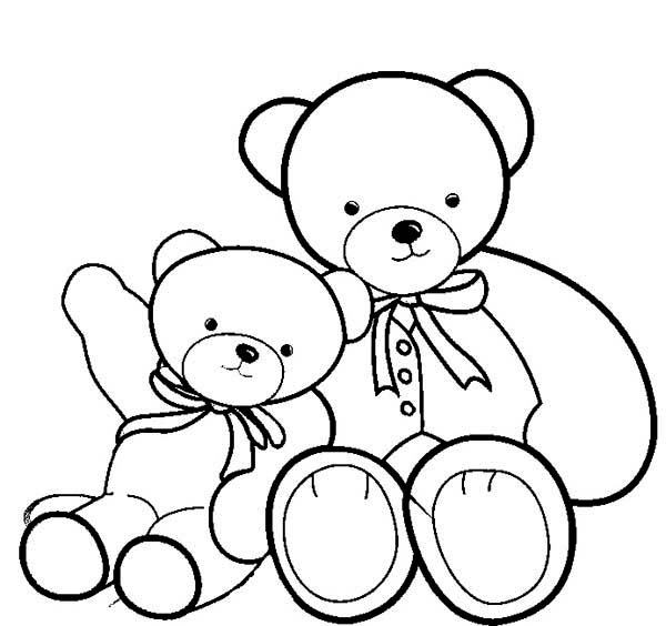 600x564 Two Beautiful Teddy Bear Coloring Page Color Luna