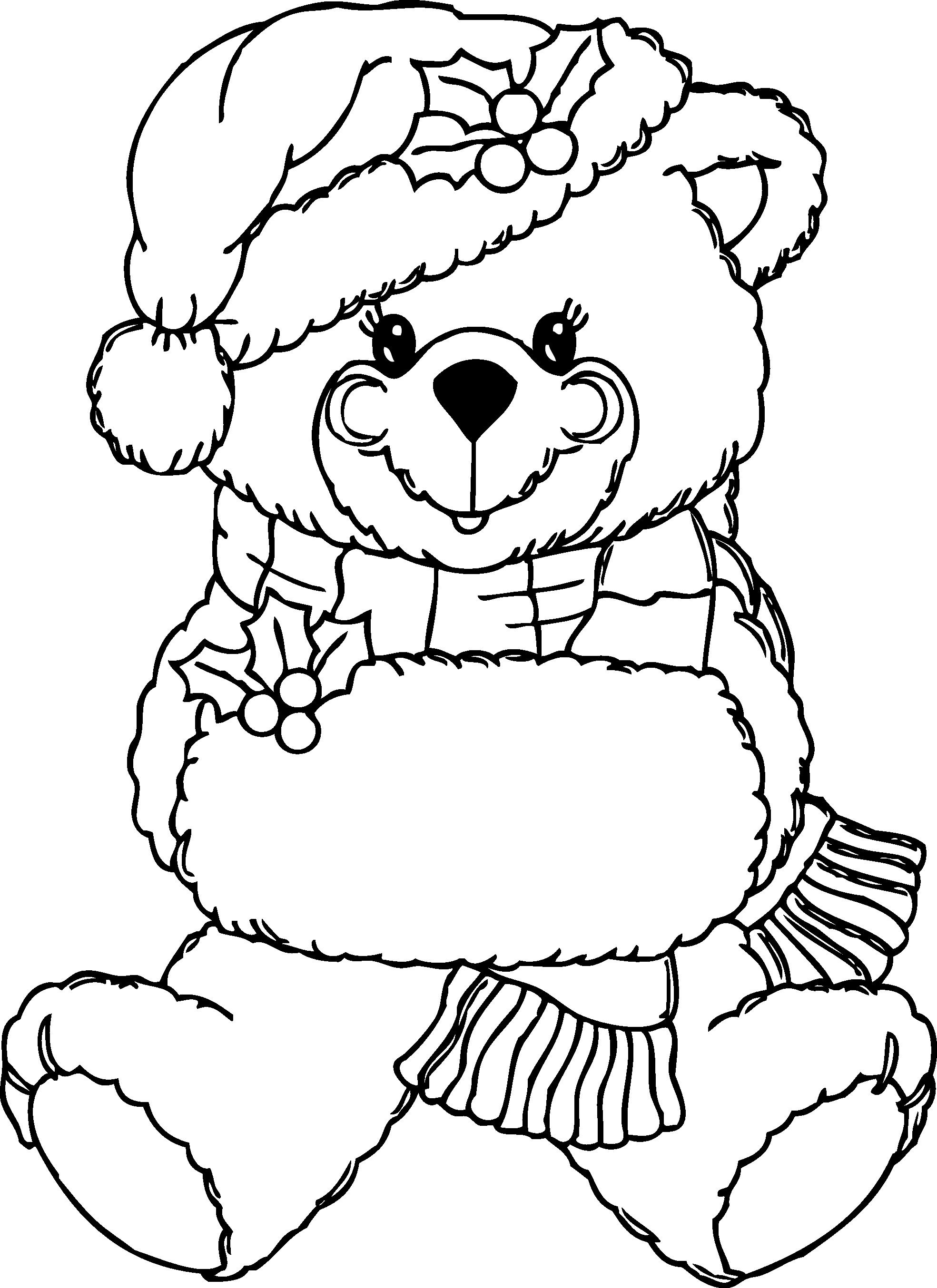 1969x2708 Line Drawing Teddy Bear