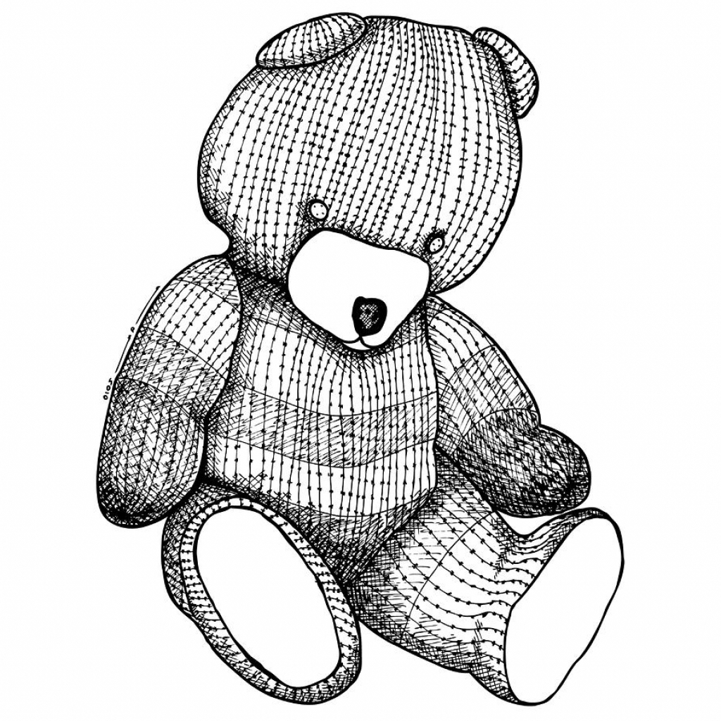 1024x1024 A Drawing Of A Teddy Bear Teddy Bear Drawing Karl Addison Teddy