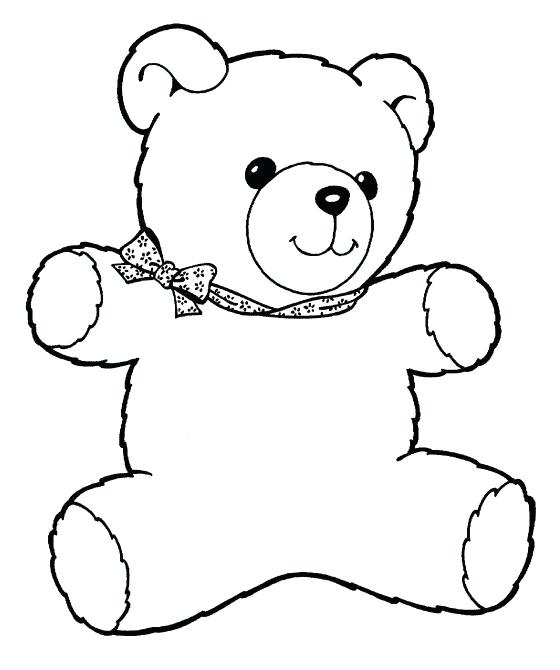 560x670 Teddy Bear Color Page Teddy Bear Coloring Pages For Kids Teddy