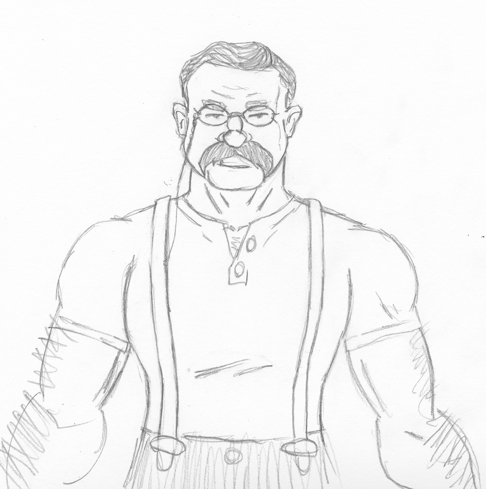1584x1595 Teddy Roosevelt Brian's Sketch Blog