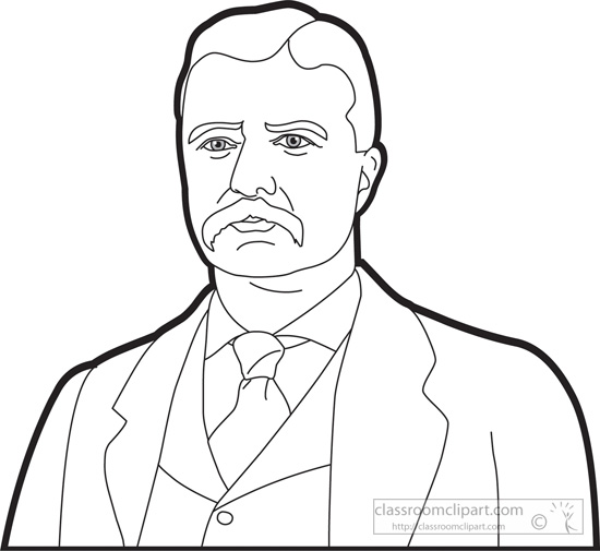 550x505 American Presidents Clipart President Theodore Roosevelt Clipart
