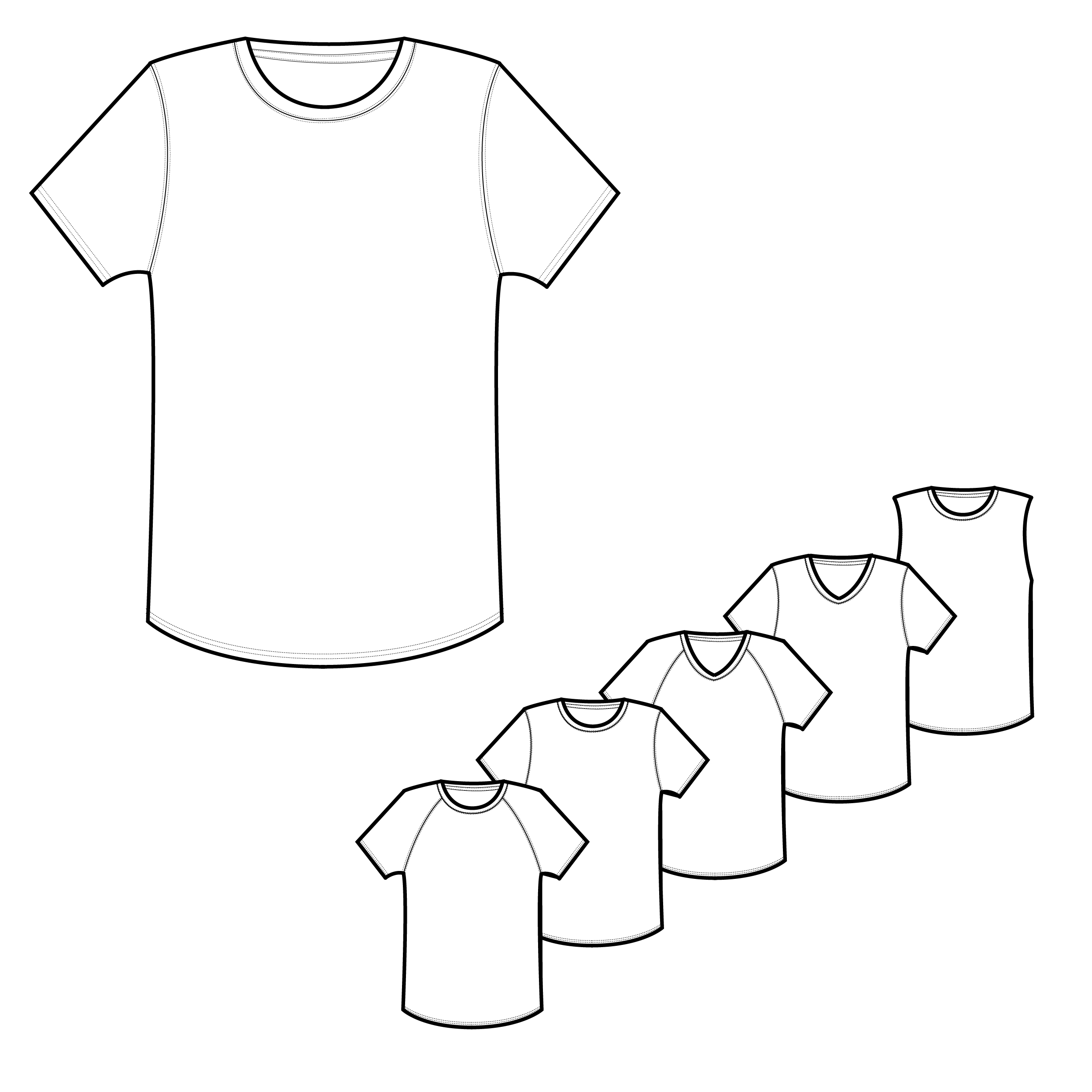 2480x2480 Mens Classic Amp Raglan Tee Shirt Technical Drawings Detile