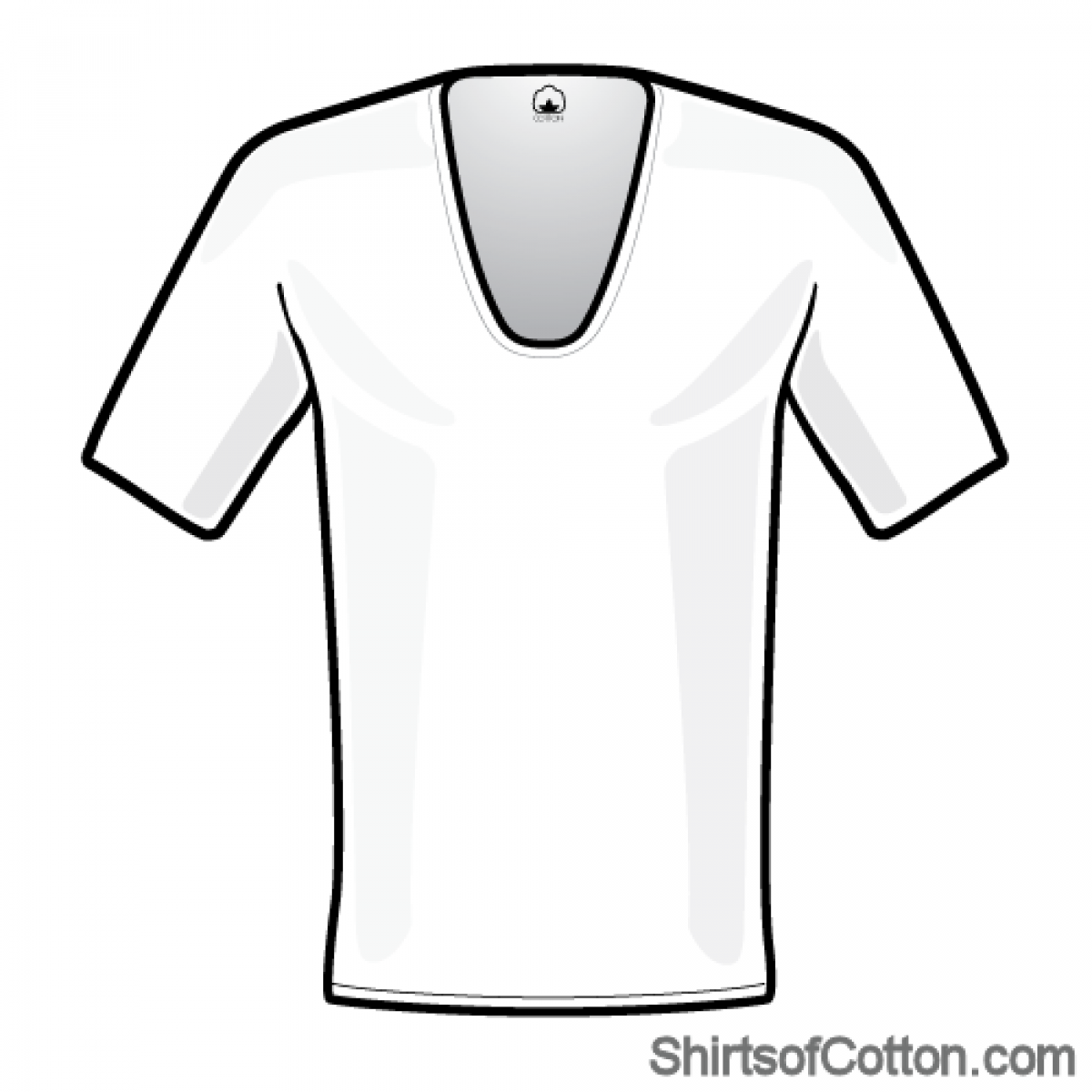 1200x1200 Perfect White Extra Deep V Neck T Shirt Shirtsofcotton