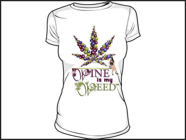 620x465 Wine Is My Weed Tee Shirt Design