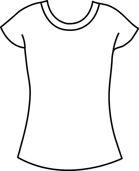 448x550 Womens T Shirt Template