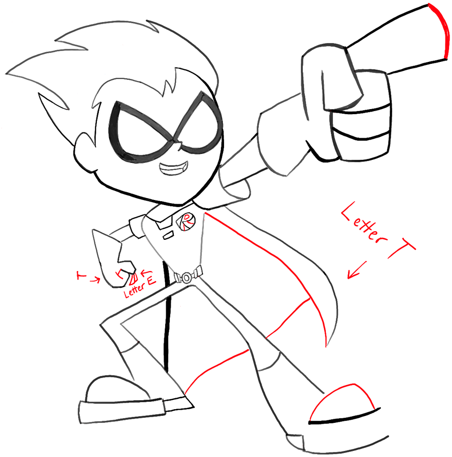 900x909 Teen Titans Go Drawing How To Draw Robin From Teen Titans Go