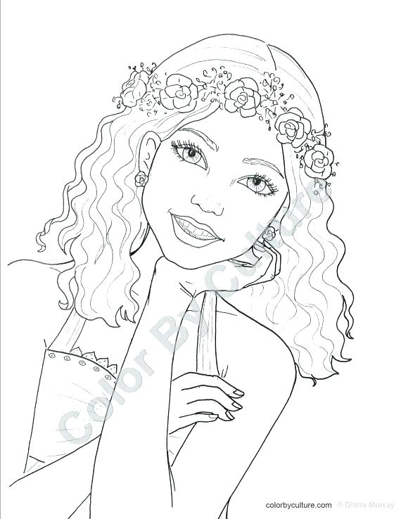 coloring pages teenage girls - teen girl drawing at free for personal