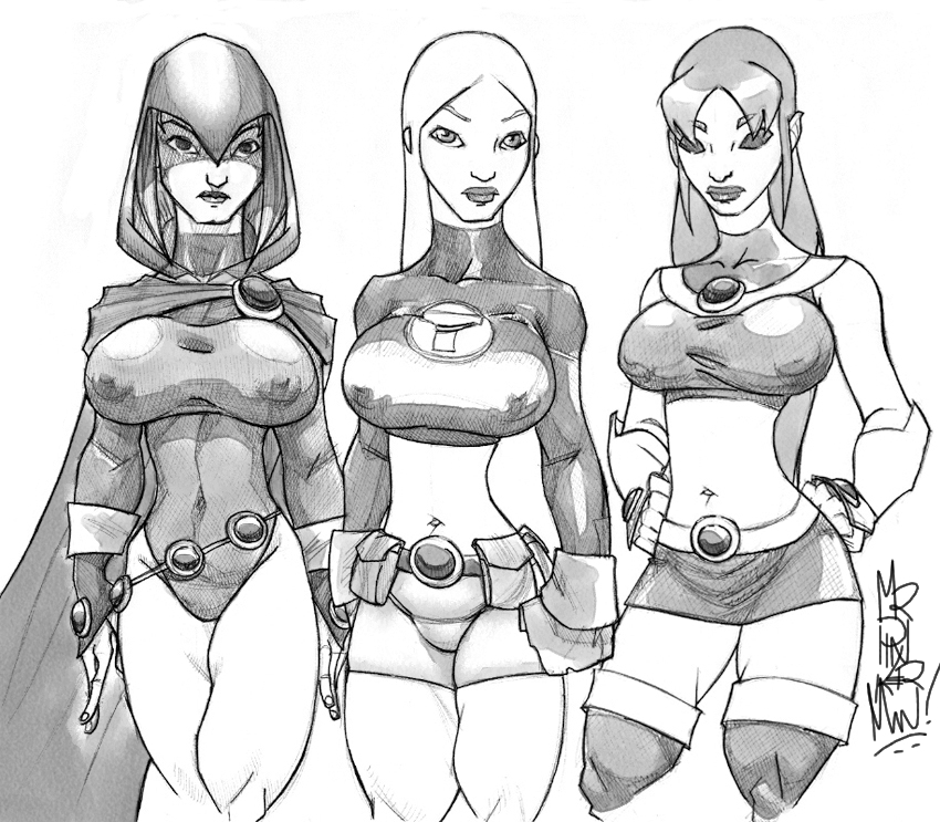 850x743 Teen Titans Girls By Misterpinkerman