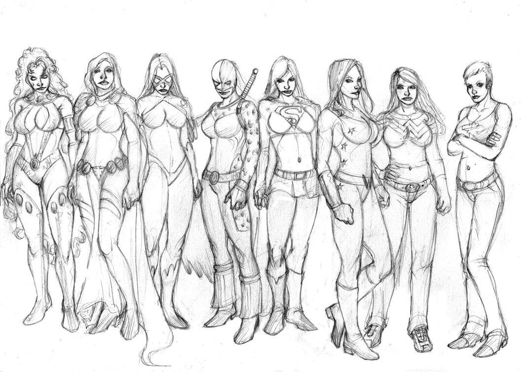 1057x756 Teen Titans Girls Rule By Selkirk