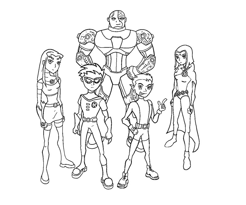 800x667 Teen Titans Go Printables Pictures Teen Titans Coloring Pages 69