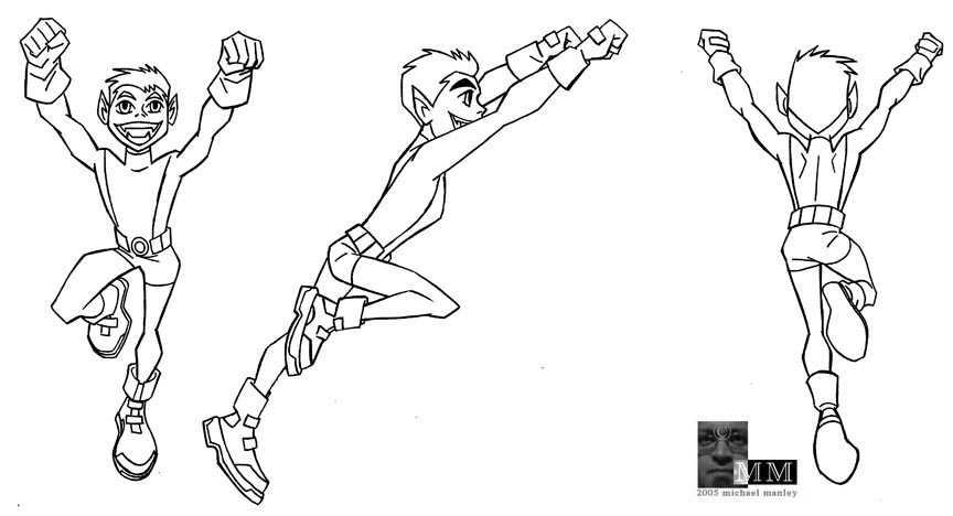 Teen Titan Drawing at GetDrawingscom Free for personal use Teen