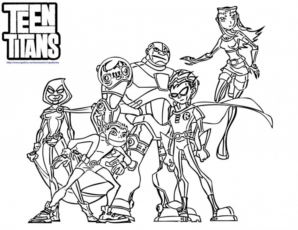 1024x790 Teen Titans Coloring Pages On Coloring Book Art Worth Within Teen