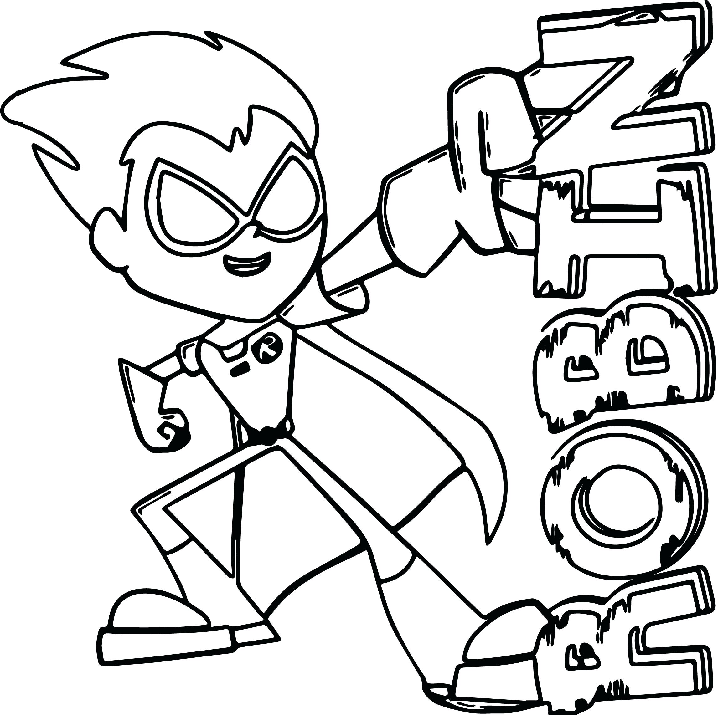 2293x2285 Coloring Robin Coloring Page Teen Titans Go Batman Superman Pages