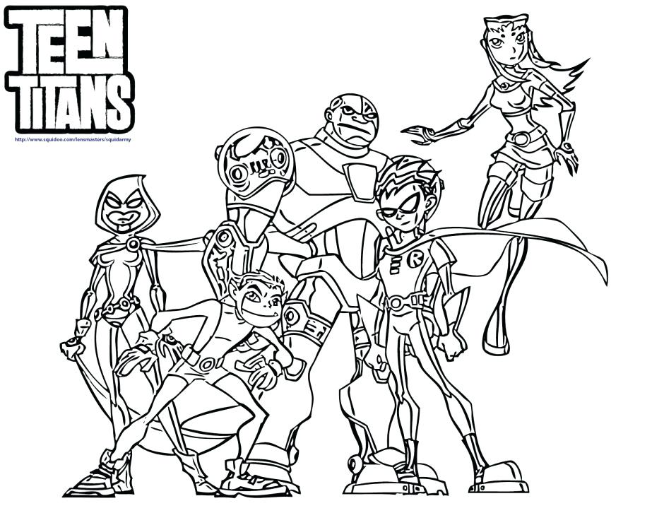 940x726 Teen Titans Coloring Pages