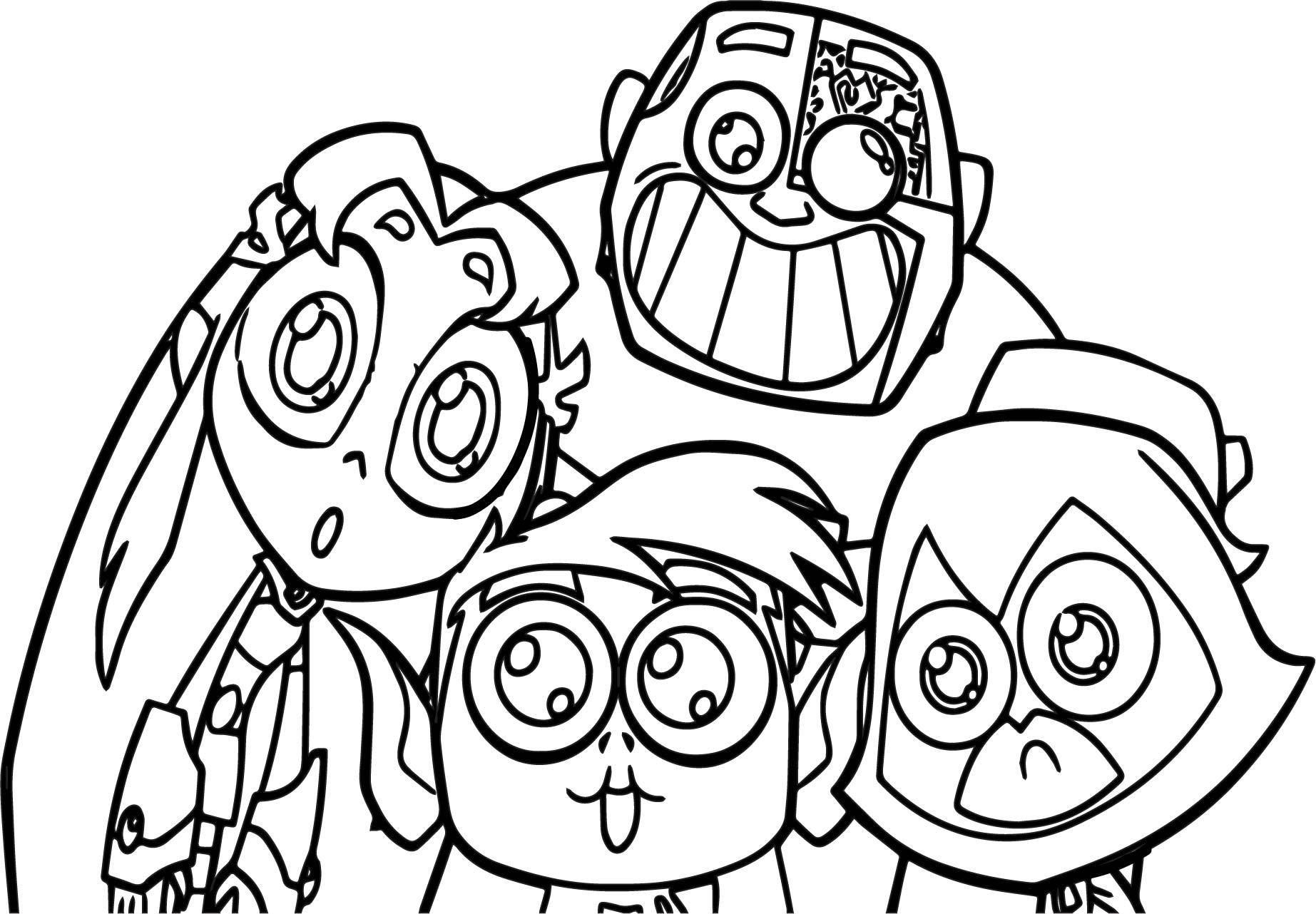 1845x1282 Teen Titans Go Color Pages Coloring Page For Kids