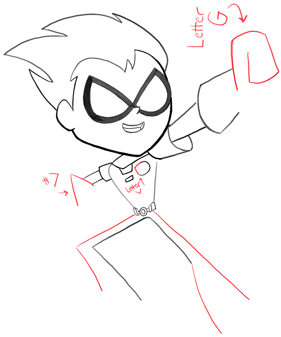 935x1122 How To Draw Robin From Teen Titans Go With Easy Steps Tutorial
