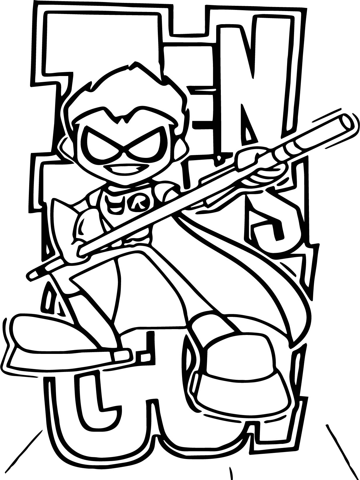 1234x1648 Robin Teen Titans Go Picture Coloring Page Wecoloringpage