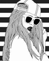 Teenage Girl Drawing