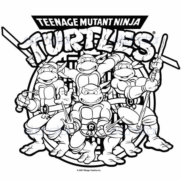 Teenage Mutant Ninja Turtles Drawing