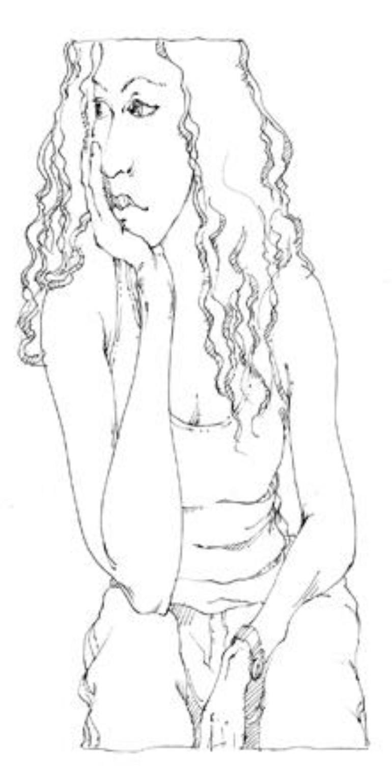 770x1526 Saatchi Art Bored Teenager Drawing By Joel Armstrong