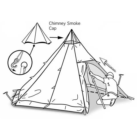 480x480 Megahorn Winter Teepee (4p) Outer Tent With Snow Skirts Luxe