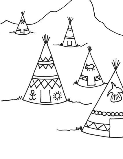 Teepee drawing at getdrawings free for personal use teepee 425x550 teepee coloring sheet tipi coloring sheets maxwellsz